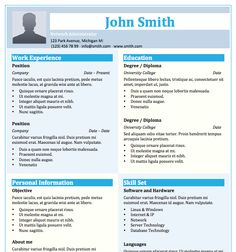 Free Resume Templates   Download Word Template   Microsoft Resumes