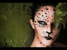 Tutoriel maquillage/face painting leopard - YouTube