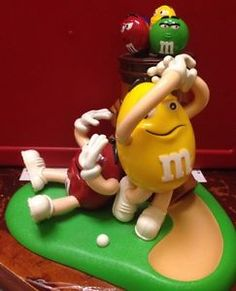 M M Candy Dispenser Playing Golf It's Mulligan Ville Decoration ...