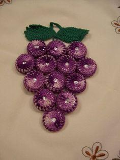 Crochet Grape Hot Pad Vintage