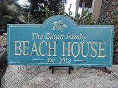 New from Elk Canyon Sign Shop....the perfect Personalized Wood Carved BEach House sign!