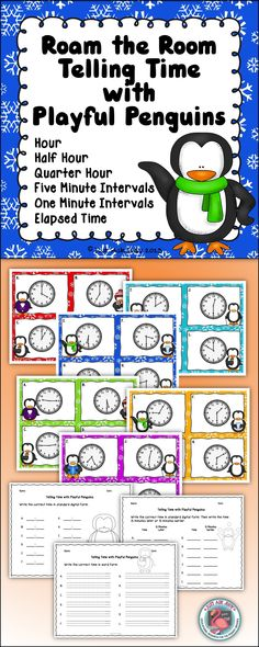 This resource includes 6 different sets of color-coded analog clock cards covering telling time to the hour, half-hour, hour and half-hour, quarter hour, five-minute intervals, and one-minute intervals for you to select from. Grades K-3, $