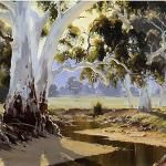 Flinders Gums - 90 x 60 © Copyright John Wilson Painting Gallery, Art Gallery, Watercolors, Watercolor Paintings, Wilson Art, Australian Artists, Blue Mountain, Any Images, Landscaping