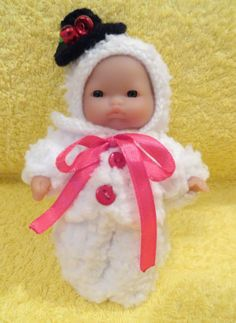 """Hand knitted Dolls clothes for 5"""" Berenguer Doll (#1) 