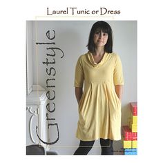 Greenstyle Women's Laurel Tunic or Dress Sewing Pattern - You will fall in love with the comfort, flexibility and options of this dress. There are four different sleeves lengths, three different skirt lengths, and three different torso lengths. We even found it works great for those who are expecting so it can be worn throughout your pregnancy and after! Pattern contains sizes XXS up to 3XL. :: $8.00