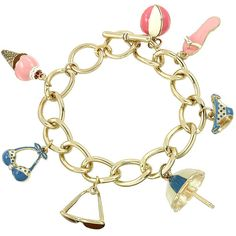 Day at the Beach Charm Bracelet ($15) ❤ liked on Polyvore featuring jewelry, bracelets, heart bangle, ball jewelry, charm jewelry, charm bracelet and heart jewelry