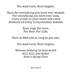 Letter to my Daughter #32 by Mia Hollow | burn wild, burn bright my loves