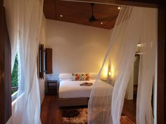 A dreamy sleep in the Master room, feel the summer breeze as it drifts through the curtains. Secluded Beach, Master Room, Vanuatu, Summer Breeze, Villa, Sleep, Curtains, Bed, Inspiration