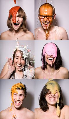 Dumped is a fun series of portraits by Meg Wachter that captures peoples expressions at the exact moment a food or liquid was dumped over their heads. I have seen the pictures before but not the video. Watching in motion is also fantastic because it shows how genuine their reactions are. You can watch the entire process: the wait for the dumping and their reactions to it, whether it is shock, disgust or delight, each resulting frame is amazing because they are