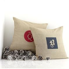 Natural Chambray Pillow on markandgraham.com