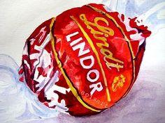 Items similar to Lindt Chocolate - Food Art Original Watercolor - Kitchen Paiting on Etsy - Larti Sanat 3112 Candy Drawing, Food Drawing, Life Drawing, Joan Mitchell, Chocolate Food, Chocolate Recipes, Aoi Art, Sweet Wrappers, Sarah Graham