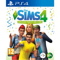 The Sims 4 Deluxe Party Edition PS4 Cover Art
