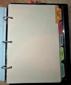 File folder planner organizer