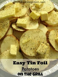 This is the easiest and most delicious potato recipe for the grill. Takes 5 minutes to prepare, and goes with almost everything.