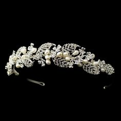 Beautiful! Freshwater Pearl and Crystal Headband Tiara Vine - Affordable Elegance Bridal -