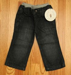 Burt's Bees Baby Boy or Girl Denim Pants ~ Navy Blue ~ #BurtsBeesBaby #Jeans #Everyday