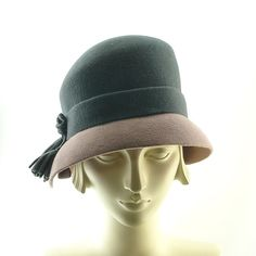 Felt Cloche Hat for Women  Downton Abbey 1920s by TheMillineryShop,