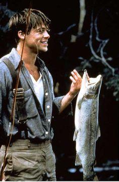 Brad Pitt-one of my favorite movies/ book with him in it (A River Runs Through It) Brad Pitt, Angelina Jolie, Yves Robert, Claude Brasseur, Thelma Et Louise, Fishing Photography, Run Through, Fishing Adventure, Robert Redford