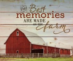 """Memories Farm Pallet Art Wood Sign - 21x17.625"""" If you live on a farm or have lived on a farm or just love the idea of farming, this Memories Farm sign is for you."""