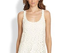 Trendy crochet tunic PATTERN detailed TUTORIAL for every row