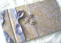 Wedding Guest Boook Classic Lavender and Gold Ornate by Daisyblu, $56.00 Periwinkle Wedding, Handmade Items, Handmade Gifts, Wedding Guest Book, Color Palettes, Baby Room, Albums, Color Schemes, Wedding Decorations