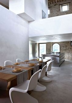 Beton Cire flooring (Solacir) also love the table and chairs - perfect
