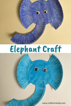 Kids Craft: Elephant Craft, Are your kids learning about elephants or love books about elephants? This elephant craft pairs well with elephant lesson plans. Simple craft for kids. Paper Plate Crafts For Kids, Spring Crafts For Kids, Easy Crafts For Kids, Craft Activities For Kids, Toddler Activities, Summer Crafts, Educational Activities, Summer Activities, Crafts For Babies