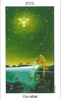 The Star; Sun and Moon Tarot  One of my all time favorite pieces of tarot art!