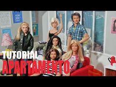 Tutorial Barbie - Como fazer uma CAFETERIA + BALCÃO COM VITRINE para sua Barbie, MH, EFH - YouTube