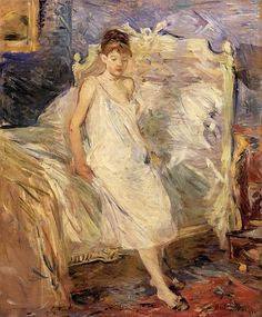 ART & ARTISTS: Berthe Morisot - Getting Up, 1885-86 oil on canvas