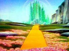 Yellow brick road and Emerald City Goodbye Yellow Brick Road, Land Of Oz, Ruby Slippers, Environmentalist, Emerald City, Over The Rainbow, Wizard Of Oz, Mellow Yellow, Dream Big