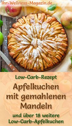 Juicy apple pie with ground almonds: simple low-carb recipe for apple-almond cakes – baked without sugar and without flour, the cake is healthy, low-carb, reduced in calories and super delicious … cake recipes Apple Recipes Low Carb, Almond Recipes, Greek Recipes, Apple Cobbler Easy, Apple Pie, Calories Apple, Apple Sausage, Sicilian Recipes, Ground Almonds