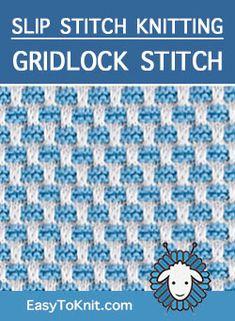 The Art Of Slip-Stitch Knitting - die kunst des slip-stitch-strickens - l'art du tricot à point coulissant Slip Stitch Knitting, Knitting Stiches, Knitting Blogs, Loom Knitting, Knitting Patterns Free, Crochet Stitches, Baby Knitting, Stitch Patterns, Knit Crochet