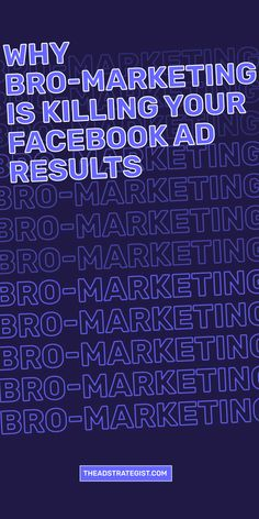 Bro-marketing focuses on lowering your cost per lead (CPL) versus increasing your earnings per lead (EPL). It's all about the link click costs (CPC) and clickthrough rate (CTR %) at the detriment of building real relationships with real human beings in your Facebook advertising. It's a vicious cycle of churning people through your sales funnels without regard to their customer journey or user experience. Facebook Ads Manager, Real Relationships, Advertising Campaign, User Experience, Growing Your Business, Bro, Journey, Marketing, Math