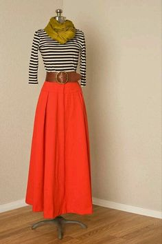 Long skirts can be young & hip too