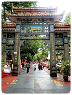 """Better known by its old name, Tiger Balm Garden, """"Haw Par Villa"""" is a theme park where folktales from the Chinese mythology are presented through nearly a thousand life size sculptures, and although many of the exhibits are fairly kitschy, the park is well worth visiting...    By globetrottergirls, via Flickr"""