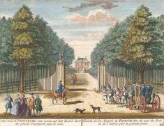 Het Huis te Papenburg van voren uit het Bosch door de groote Voorpoort aan te zien... Het Zegenpralent Kenenmerlant, vertoont in 100 Heerelyke gezichten. Matthaeus Brouerius van Nidek, , Henrik de LETH.