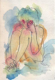 Spontaneous watercolor studies.