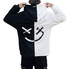 8a876bb7937e Harajuku Men Hoodies Sweatshirts Smile Print Hooded Hoodie Hip Hop  Streetwear Loose Mens Clothing US Size S-XL Sudadera Hombre