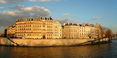 Ile Saint-Louis, Paris | One of my favourite places for walking and just looking around. Very early on the morning, there is no one, and see the sun rises on the buildings is very peaceful.