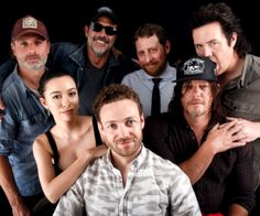 The Cast of The Walking Dead photographed at San Diego Comic Con on July 23, 2016