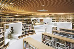 Kikuchi City Central Library by Nomura Co.: 2018 Best of Year Winner for Library Public Library Design, City Library, Library Room, Central Library, Central City, Library Architecture, School Architecture, Interior Architecture, Interior Design