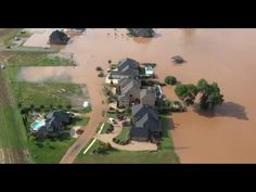 Aerial Video Of Red River Flooding In Bossier Parish, Louisiana - YouTube