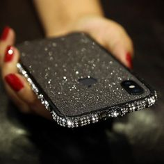 Bumper Diamond Bling Shining Cell Phone Case For iPhone - For iPhone 11Pro Max / Black