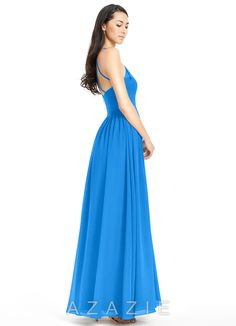 Shop Azazie Bridesmaid Dress - Kailyn in Chiffon. Find the perfect made-to-order bridesmaid dresses for your bridal party in your favorite color, style and fabric at Azazie.