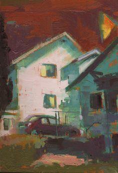 William Wray Painting -Echo Park-12x16