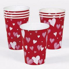 Valentine Heart Paper Cups