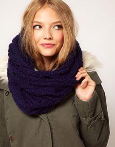 ASOS wool snood scarf