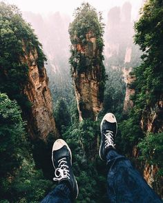 The awesome views from Zhangjiajie, China Zhangjiajie, Adventure Awaits, Adventure Travel, Oh The Places You'll Go, Places To Travel, Destinations, In China, Forest Park, Adventure Is Out There