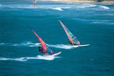 Windsurfing South Africa - Wind surfing is a fun water adventure sport whereby the windsurfer stands on a board that has a sail and uses the power of the wind to propel it forward. All you need to windsurf is a nice stretch of water, some wind and your equipment. While you can teach yourself to wind surf, you may prefer to have a few lessons and get professional instruction before taking to the waves.